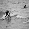 Surfing a small wave